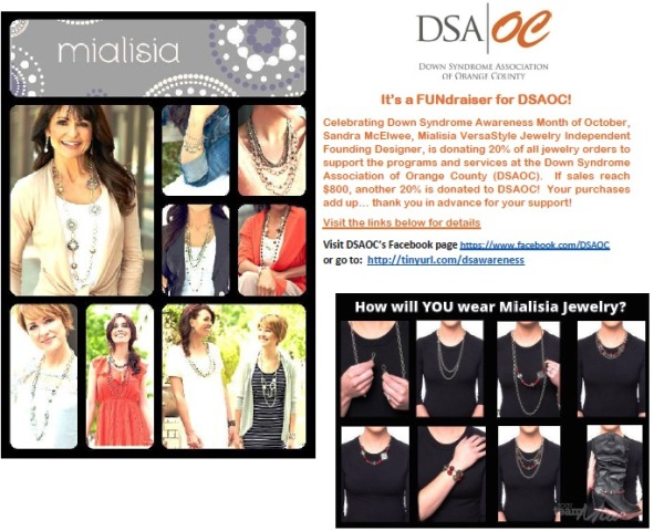 Mialisia fundraiser flyer image