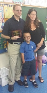 WINNER Ed of Year 2014-2015 - Chris Reilly - parent Carrie Ro smaller